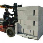 Habet Konkrit Forklift Hidraulik / Blok Mengangkat Blok