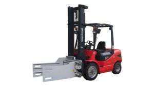 3T Forklift dengan Pengapit Bale Clamp