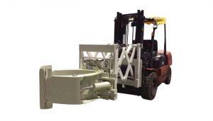 Pengendalian Tirus Forklift Attachment Tire Clamps Telescopic